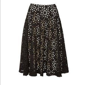 Alice &Olivia laser-cut floral full flare skirt 2